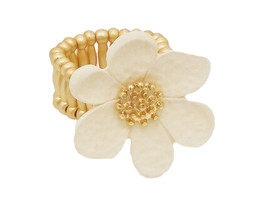 Colorful & Fun Floral Flower Metal Stretch Ring - $11.95