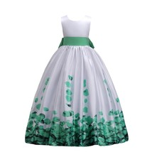 Flower Girl Dress Princess Kids Pageant Party Dance Birthday Ball Gown 8-9 Years - $69.40