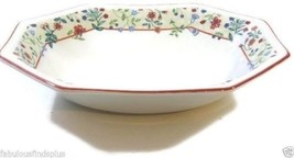"Enchantment Red Trim Johnson Brothers Heritage 9"" Octagonal Oval Vegetab... - $22.03"
