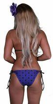 Famous Stars & Straps Mujer Púrpura Negro Genrose Júnior Monokini Bañador Nwt image 3