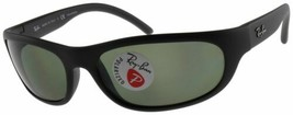 Ray Ban Predator Sunglasses RB4033 601S48 Matte Black W/ Green Polarized Lens - $96.84