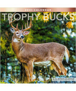 "Trophy Buck 16 Months 2021 Wall Calendar 12""X24"" w BONUS Downloadable wa... - $12.00"