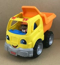 """Fisher-Price Little People Dump Truck With Action Sounds And Driver 8"""" L... - $9.70"""