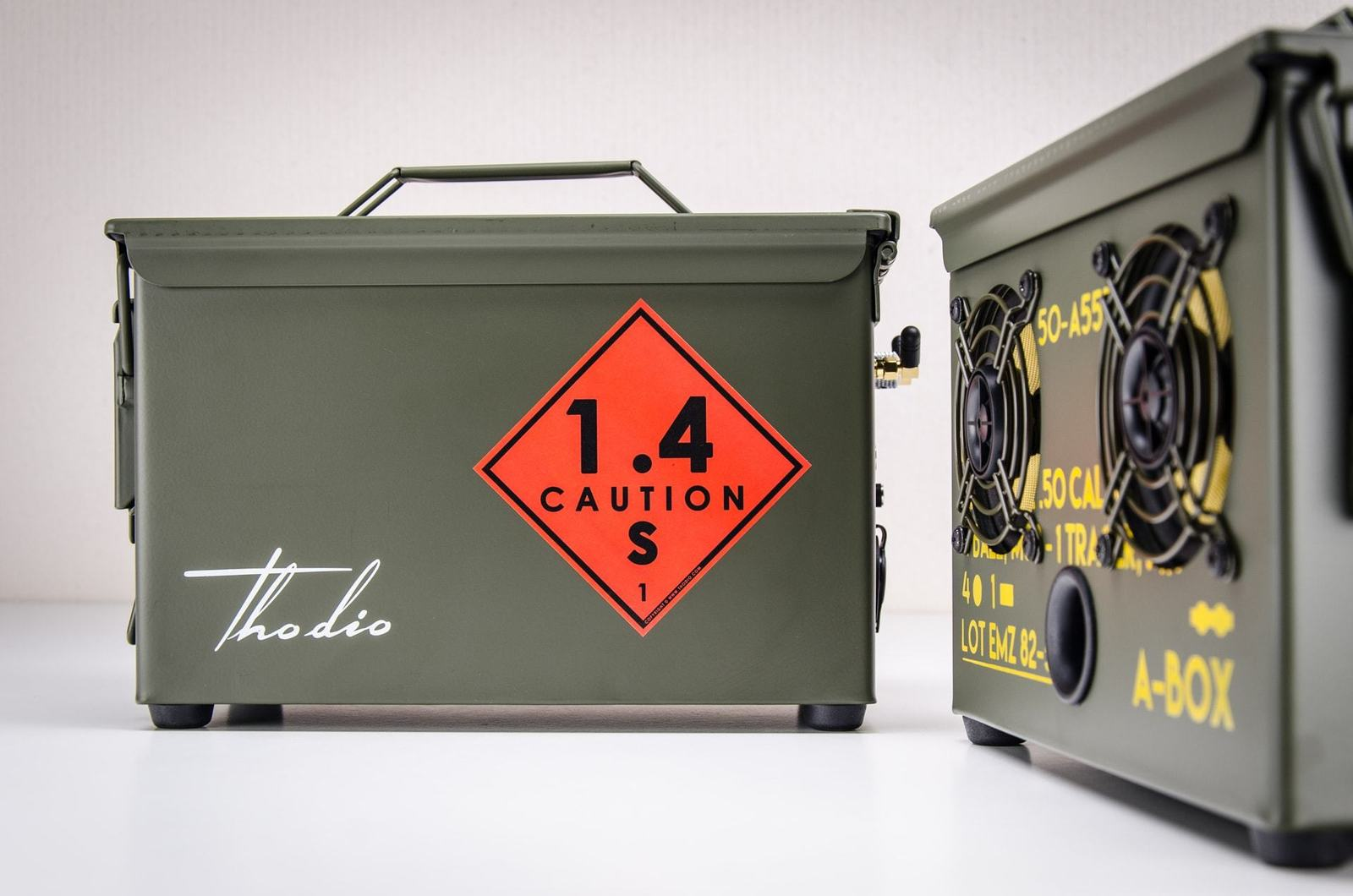 Ammo Can Bluetooth Speaker, 9MM A-BOX The best outdoor boombox portable speaker