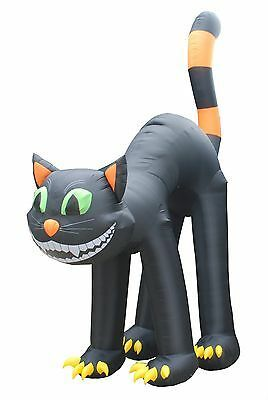 20 FOOT Animated Lighted Jumbo Halloween Inflatable Black Cat Yard Decoration