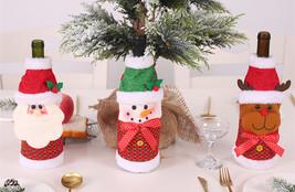 Noel Christmas Wine Bottle Cover Santa Claus Xmas Christmas Decorations  - $10.00