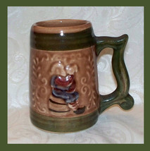 MINI BEER STEIN MUG POTTERY GERMANY MARKED W VERSE OLD MAN OLD VTG MINIA... - $4.16