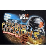 San Francisco Giants 2014 Champions World Series T Shirt  MLB Black Adul... - $15.79