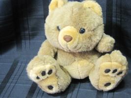 "Fiesta 1989 Stuffed Plush Big Foot Bigfoot Feet Teddy Bear Brown 8"" Euc - $19.87"
