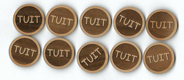 Round TUIT When you get a Round To It Qty (10) Wood Token Coin - $8.86