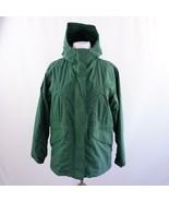 Cabelas Nylon Green Hooded Parka Jacket Womens Sz L - $38.69