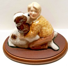 Wade England Porcelain - Welcome Home by Ken Holmes Girl with Springer S... - $24.75