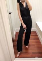 $325.00 Lauren Ralph Lauren Pinstripe Sleeveless Jumpsuit Black/Cream  S... - $36.63
