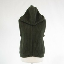 Dark olive green 100% cotton WOOLRICH sleeveless ribbed sweater vest M - $29.99
