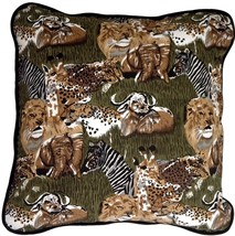 Pillow Decor - Safari Print Cotton Large Throw Pillow - $24.95