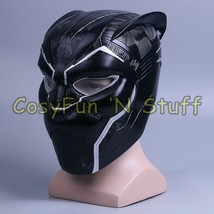 2018 Movie Black Panther Handmade PVC Cosplay Helmet Mask - $55.99+
