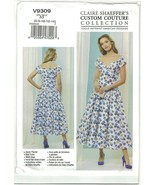 Vogue Claire Shaeffer 9309 Drop Waist Dress Sweetheart Neck Pattern Choo... - $14.99