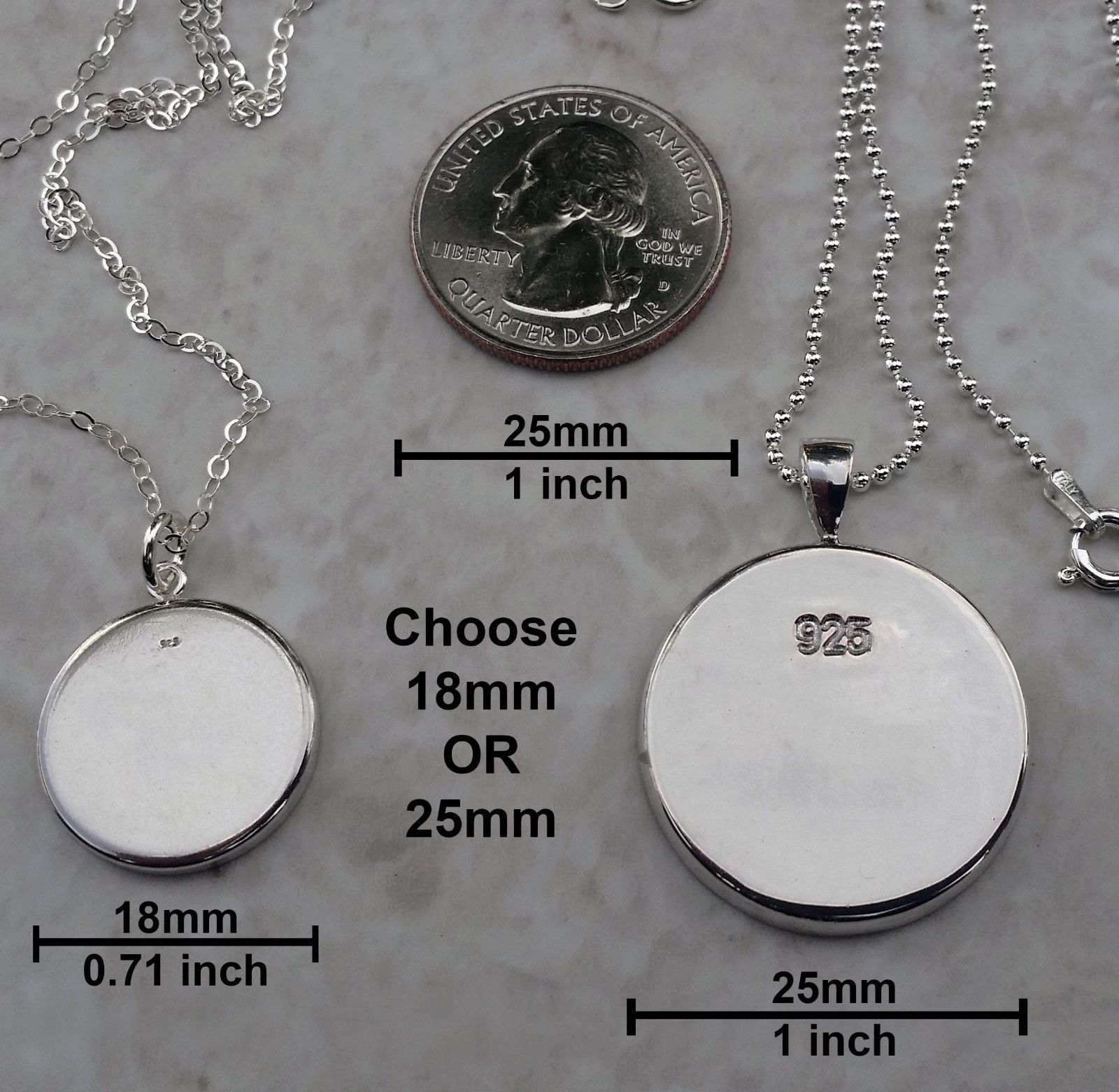 Sterling Silver 925 Pendant Necklace Hand of Eris Discordianism