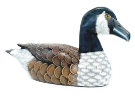 Duck Decoy Sculpture Hand Carved and Painted Felt Bottom 11 x 6 x 3.75 i... - $174.93