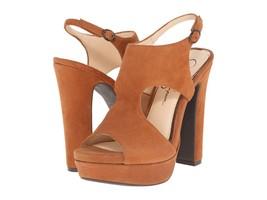Women's Jessica Simpson Barrow Sandals, Sizes 8.5-9 Autumn Umber Suede JS-BARROW - $79.96