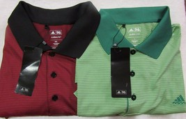 Adidas Climatelite S/S Striped Red Or Green Golf Polo Men's Sz L&2XL NWT... - $20.40