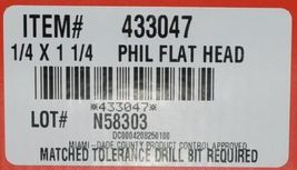 Hilti 433047 KwikCon II PLUS 1/4  x 1 1/4 in. Phillips Flat Head Screws 100pcs image 5