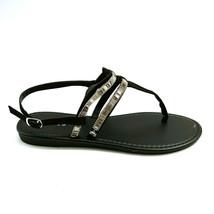 Bamboo Womans Elektra 10S T Strap Ankle Strap Thong Sandal Black Sz 7.5 ... - $17.80