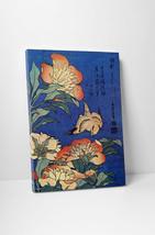 Japanese Art Katsushika Hokusai Flowers Gallery Wrapped Canvas Print - $39.55+