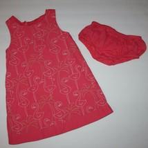 Gymboree Palm Beach Paradise Pink Embroidered Flamingo Dress size 3T - $15.99