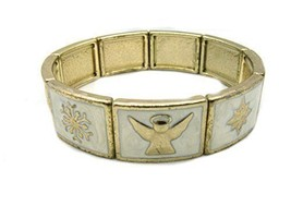Charter Club Gold-Tone Winter Stretch Bracelet - $19.54