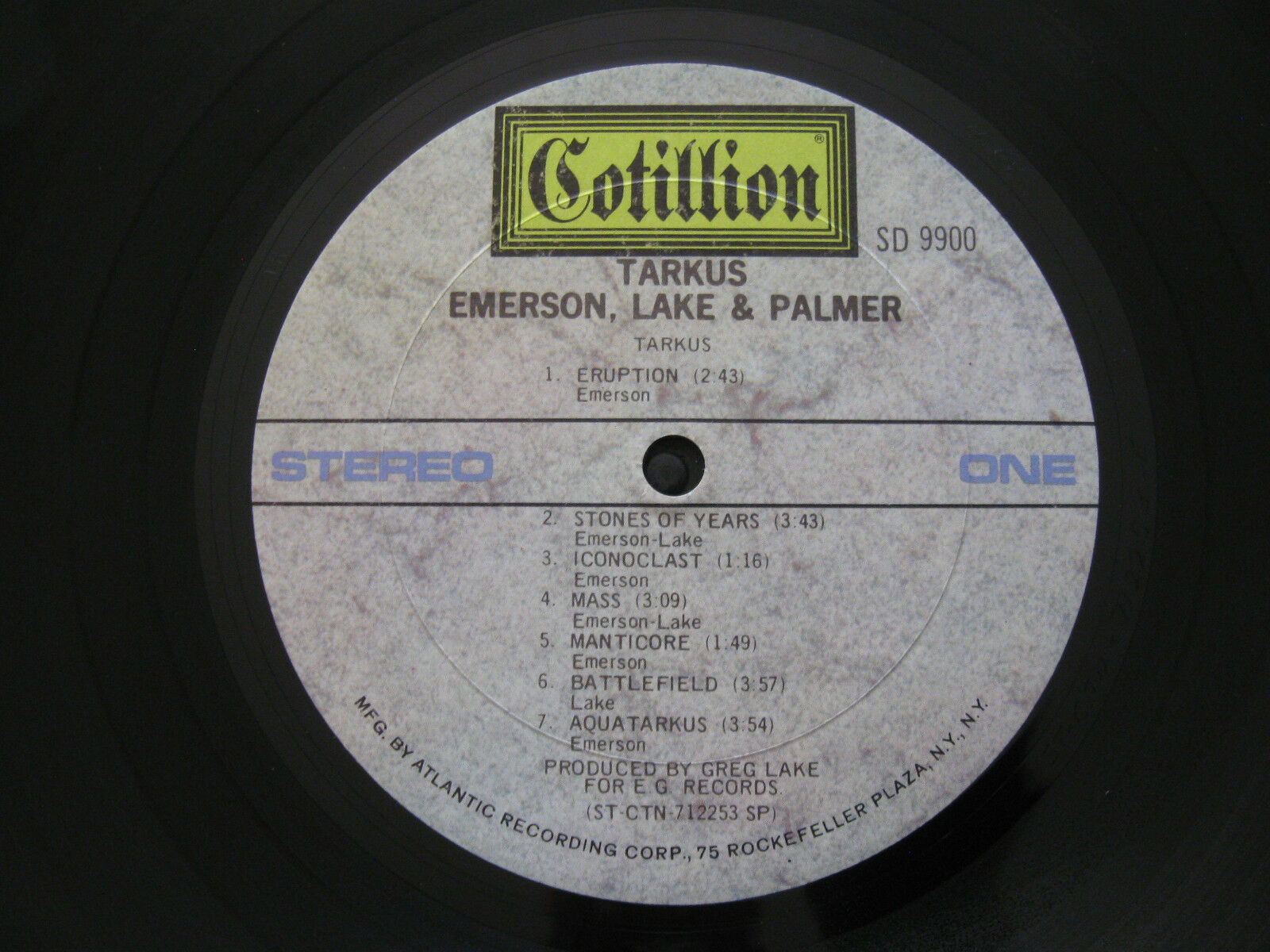 Emerson Lake & Palmer ELP Tarkus Cotillion SD 9900 Stereo Vinyl LP Record Album image 5