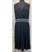 Layne Bryant Black Sleeveless Dress With White Embroidery Size 26/28 Wom... - $33.33