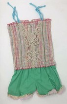 Twirls & Twigs Girls Jumpsuit Romper Shorts Smocked Top Multi-Color Size... - $22.28