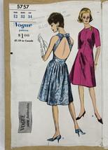 Vogue 5757 Open Halter Back Dress Pattern 1960s Young Fashionables B32 U... - $48.49