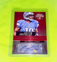 NFL COREY FULLER DETROIT LIONS AUTOGRAPHED 2014 PANINI TOTALLY CERTIFIED... - $1.79