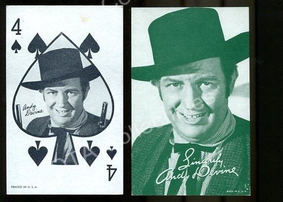 Primary image for ANDY DEVINE-ARCADE CARD LOT-1940-WESTERN FR/G