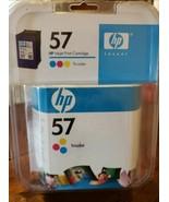 New Genuine HP 57 C6657AN Tricolor Printer Ink Cartridge  - $10.40