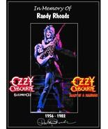 "Ozzy Osbourne Band / Randy Rhoads ""Tribute"" Stand-Up Display - Rock Memo... - $16.99"