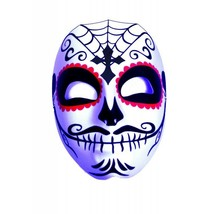 Underwraps Día de los Muertos Cruz Hierro Calavera Máscara Disfraz Hallo... - $11.57