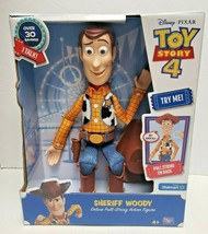 Toy Story 4 Sheriff Woody Deluxe Pull-String Action Figure Disney PIXAR ... - $34.99