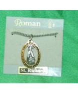 Roman 16630 Saint Richard Medal Necklace Gold Silver Color - $7.99
