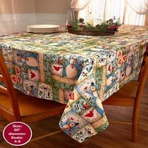 """The Lakeside Collection 60"""" Round Tablecloth Snowman Stitch - $16.16"""