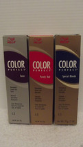 Original Wella Color Perfect Toners Hair Color Creme Gel 2 Fl Oz ~Lot Of 4 Tubes - $16.94