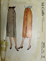 Vtg 1954 Sewing Pattern McCall's #9774 Womens 1pc Pencil Skirt Details W... - $25.48