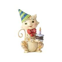 Enesco Jim Shore Heartwood Creek Collection Stone Resin Birthday Cat Min... - £24.31 GBP