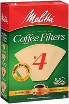 Melitta # #4 Cone Coffee Filters Natural Brown #4, 100 Count - $8.22