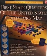 First State Quarters of the United States Collector's Map Certificate 19... - $53.78