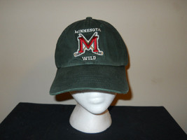 VTG-2000s RARE LOGO Minnesota Wild TEAM NHL Puma pre curved hockey hat sku9 - £25.80 GBP