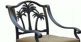 Patio bar set with Palm tree swivel chairs 5pc cast aluminum Nassau furniture image 6