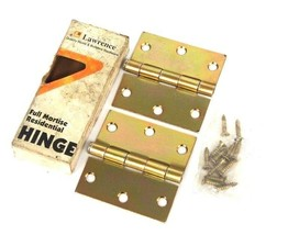 BOX OF 2 NIB LAWRENCE 125001501 DOOR HINGES 3'' X 3'' R2500S